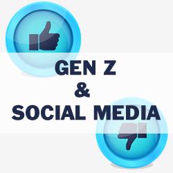 Studio utilizzo social media gen z